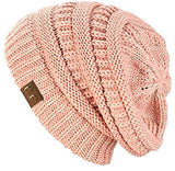 Trendy Warm Chunky Soft Stretch Cable Knit Beanie Skully