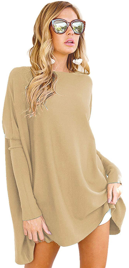 Women's Tunic Tops for Leggings Casual Oversized Shirts Batwing Long Sleeve Loose Fitting Pullover Tops Tunics