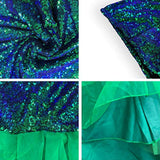 Women's Mermaid Tail Costume Sequin Maxi Skirt Cosplay Halloween Party Dress