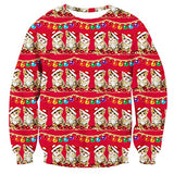 Unisex Funny Print Ugly Christmas Sweater Crewneck Various Design
