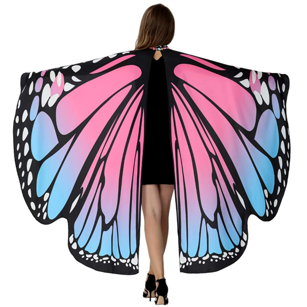 Butterfly Wings For Women, Butterfly Shawl Fairy Ladies Cape Nymph Pixie Costume Accessory