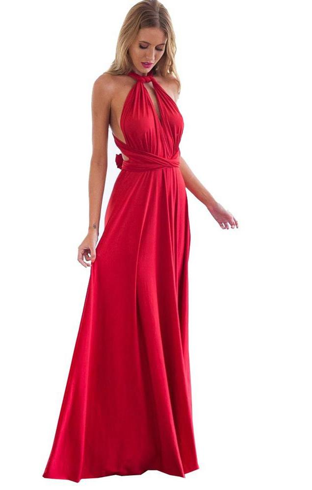 9bccd182f1c3 Sexy Women Multiway Wrap Convertible Boho Maxi Club Red Dress Bandage –  Dresscount