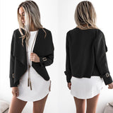 Turn-down Collar Winter Casual Open Stitch Women's Jacket