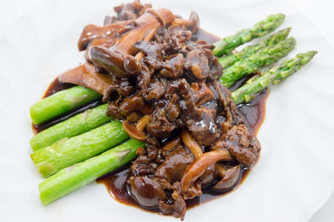 Ground Beef and Asparagus (GF)