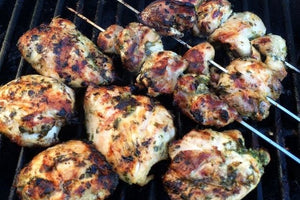 Grilled Herb Chicken Thighs