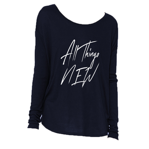 All Things New - Women's Flowy LS Blouse