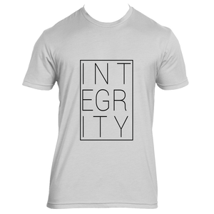 Integrity block (black) - Mens Crew Neck Tee