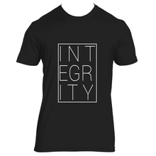 Integrity block (white) - Mens Crew Neck Tee
