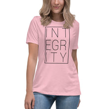 Integrity block (black) - Womens Relaxed Jersey Tee
