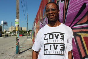 Love/Live Like Christ (black) - Mens Long Urban Tee