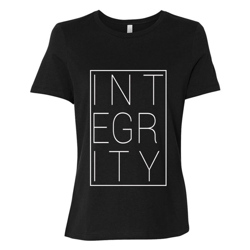 Integrity block (white) - Womens Relaxed Jersey Tee