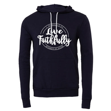 Live Faithfully (white) - Unisex Fleece Hoodie