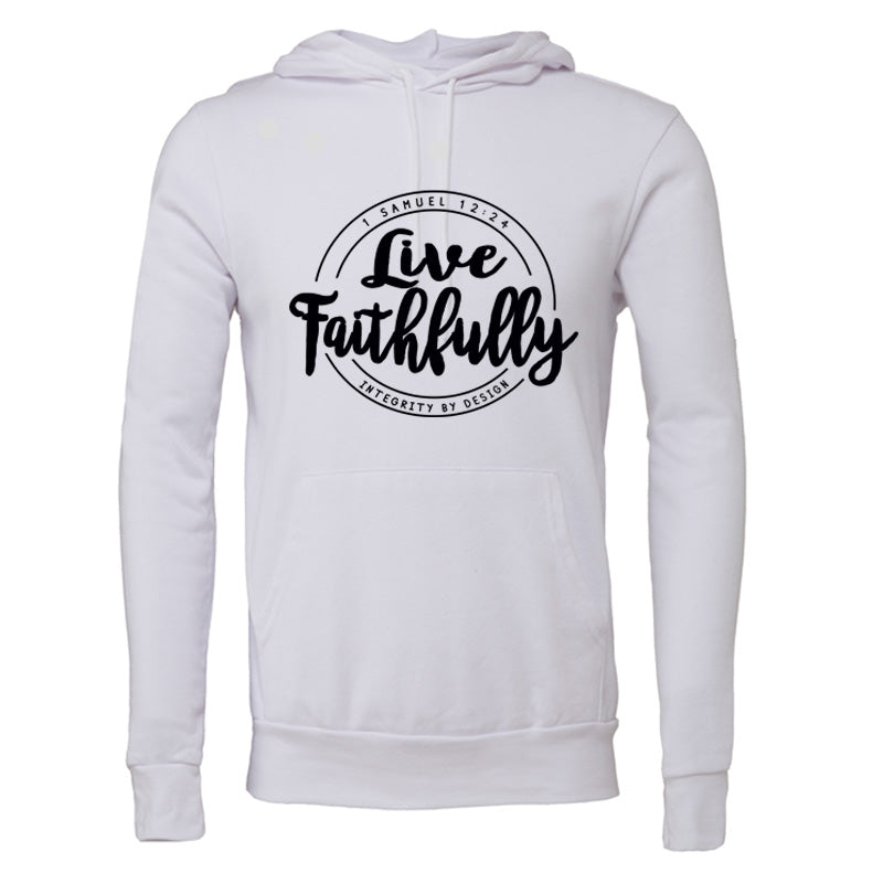 Live Faithfully (black) - Unisex Fleece Hoodie