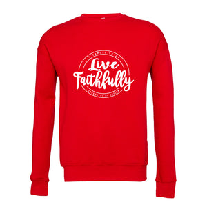 Live Faithfully (white) - Unisex Fleece Sweatshirt