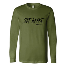Set Apart Romans 12.1-2  (black) - Mens LS Jersey Tee