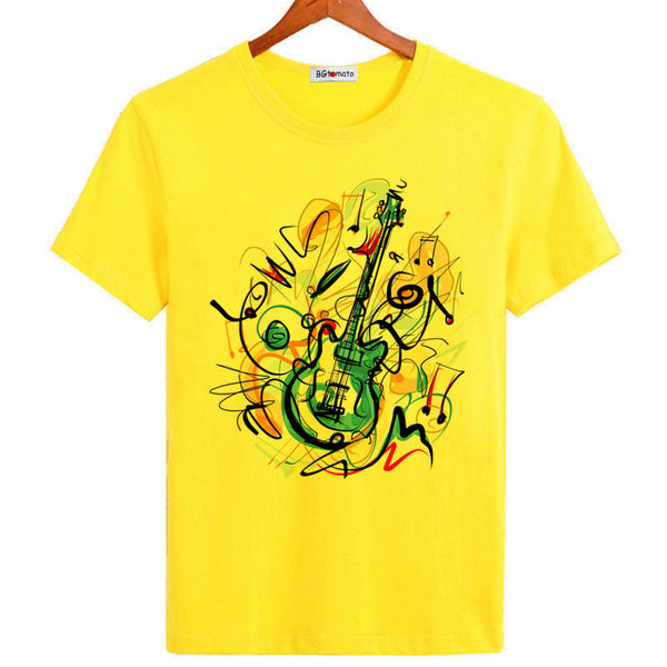 T-shirt Guitare Graffiti