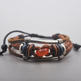 Genuine Leather Charm Knot Bracelet for Men or Women