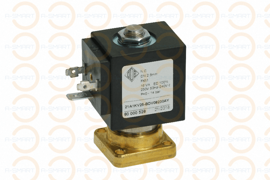 2 Way Solenoid Valve ODE Viton Seal Flat Base 230V - A-SMART PTY LTD