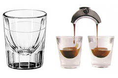 Espresso Shot Glass with Silkscreened line 2oz - A-SMART PTY LTD