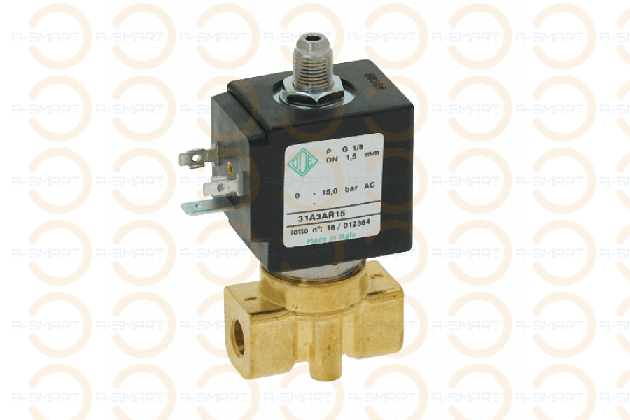 "3 Way Solenoid Valve ODE 1/8"" 230V 8W - A-SMART PTY LTD"