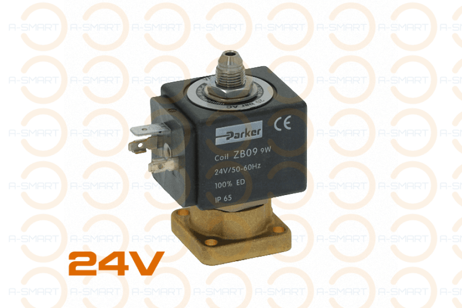 3 Way Solenoid Valve Parker 24V 50/60Hz - A-SMART PTY LTD