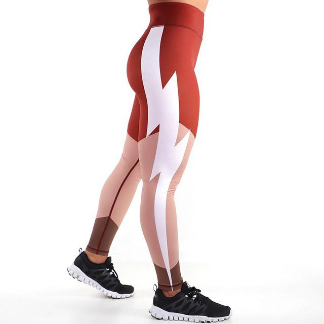 Fashion Lightning  Workout Leggings - Hamilton Fitness Apparel