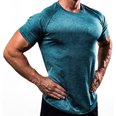 Mens Gyms Fitness Superelastic Skinny Quick dry T-Shirt - Hamilton Fitness Apparel