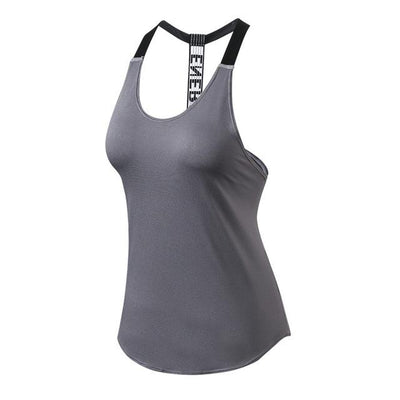 Sports T-Shirts Women Hollow Out Sleeveless Fitness Vest - Hamilton Fitness Apparel