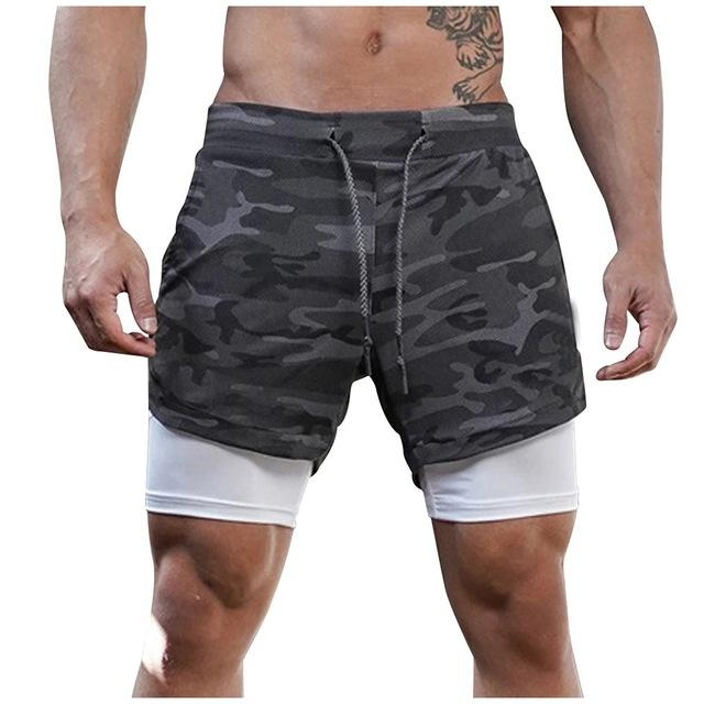 Summer Men's 2 in 1 Joggers Shorts Security Pockets - Hamilton Fitness Apparel