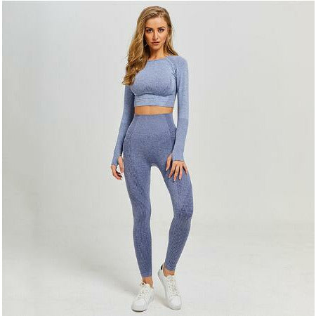 Women Seamless yoga  Fitness Sports Suits - Hamilton Fitness Apparel