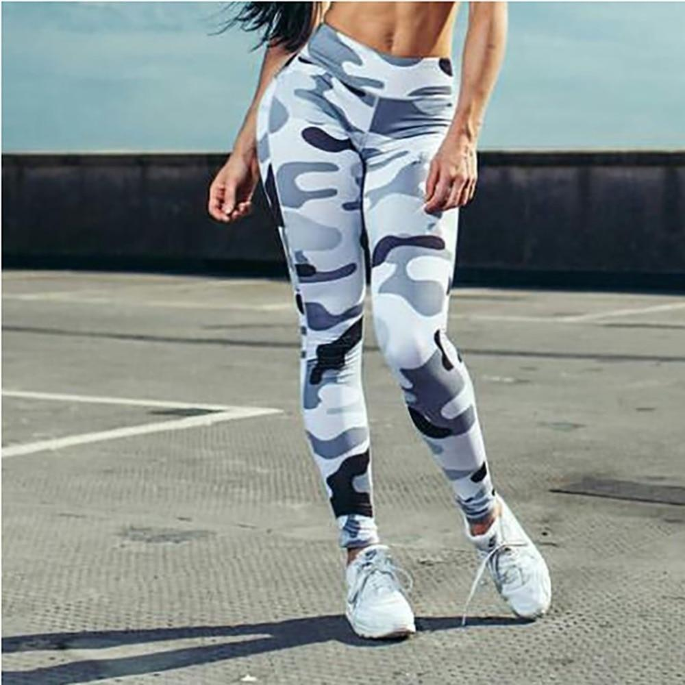 Workout Leggings High Waist Push Up Camouflage Printed  Fitness - Hamilton Fitness Apparel