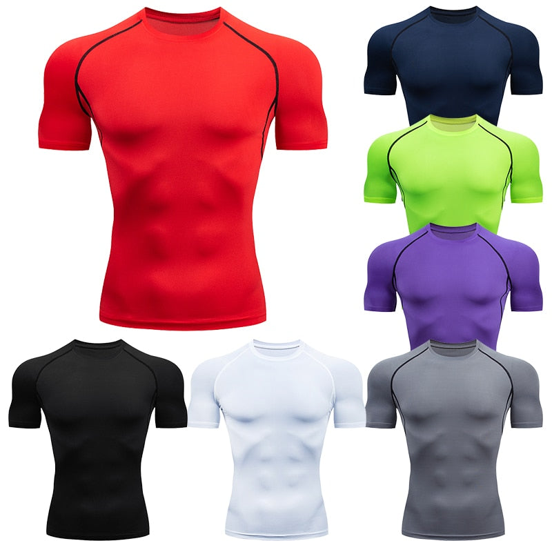 Men's Running Compression Quick Dry  Fitness T-Shirt - Hamilton Fitness Apparel