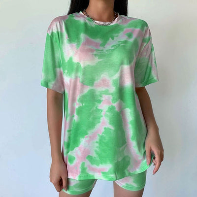 Casual Tie Dye Two Piece  Women Set Sportswear - Hamilton Fitness Apparel