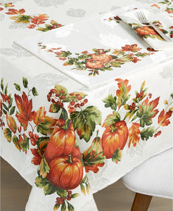 "Bardwil Fall Inspiration 60"" x 84"" Tablecloth - Midtown Bargains"