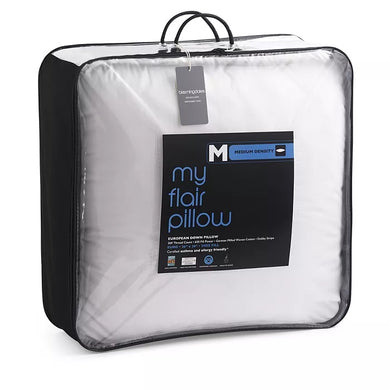 My Flair Asthma & Allergy Friendly Down Euro Pillow, Medium Density - Midtown Bargains