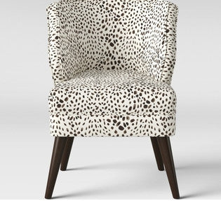 Mandolene Mid Century Arm Chair, Washed Cheetah *LOCAL PICKUP ONLY
