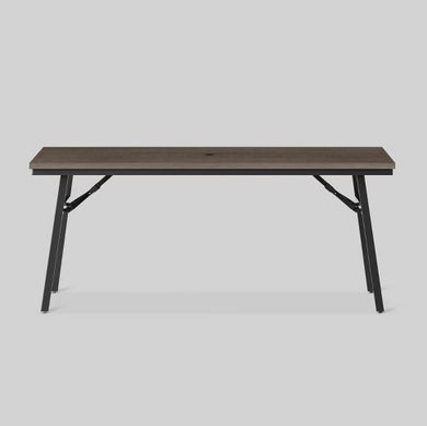 "Mantega 77"" Faux Wood Folding Patio Dining Table"