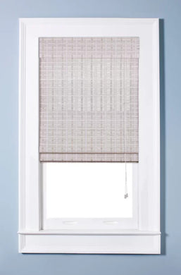 Oriental White Washed Roman Shade, 30