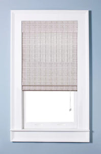 "Oriental White Washed Roman Shade, 30""x74"" - Midtown Bargains"