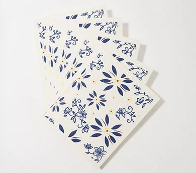 Temp-tations Set of 5 Swedish Dish Cloths Blue, - Midtown Bargains