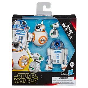 R2-D2, BB-8, D-O 3-pack Toy Droid Figures ***Box May Be Damaged