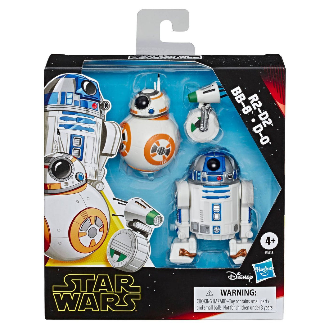 R2-D2, BB-8, D-O 3-pack Toy Droid Figures ***Box May Be Damaged - Midtown Bargains