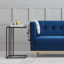 Cologne Tufted Track Arm Sofa, Blue *LOCAL PICKUP ONLY