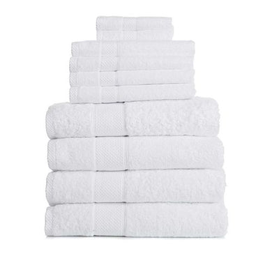 Egyptian Cotton 10-piece Bath Towel Set by Concierge Collection, White
