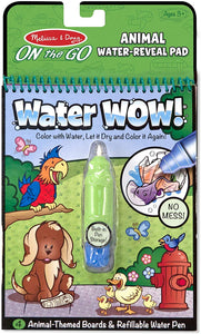 Melissa & Doug Water Coloring & Painting Book, (Water Wow Animal - On The Go Activity) - Midtown Bargains