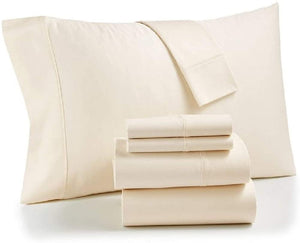 Bradford Twin XL Stay Fit 6 Piece Sheet Set, Beige - Midtown Bargains