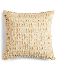 "Whim by Martha Stewart Collection Fringe Benefits 18"" Square Decorative Pillow - Midtown Bargains"