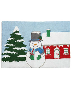 "Martha Stewart Collection Snowman 20"" X 30"" Hooked Rug - Midtown Bargains"