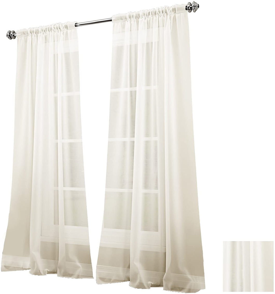 VUE SIGNATURE Sheer Single Curtain Panel, Carrington 52