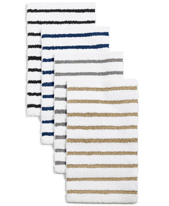 "Elite Stripe 19.3"" x 34"" Fashion Bath Rug, Gray - Midtown Bargains"